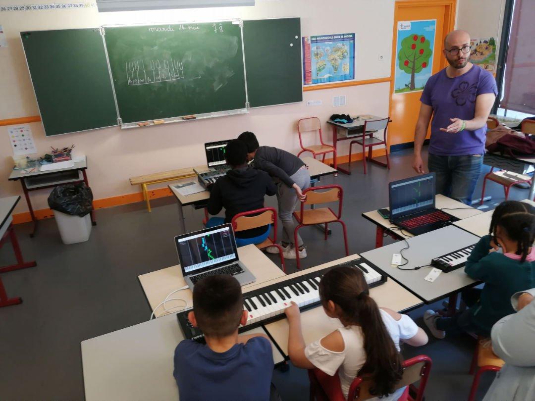 La Touche Musicale enseigne la musique aux enfants de Cergy