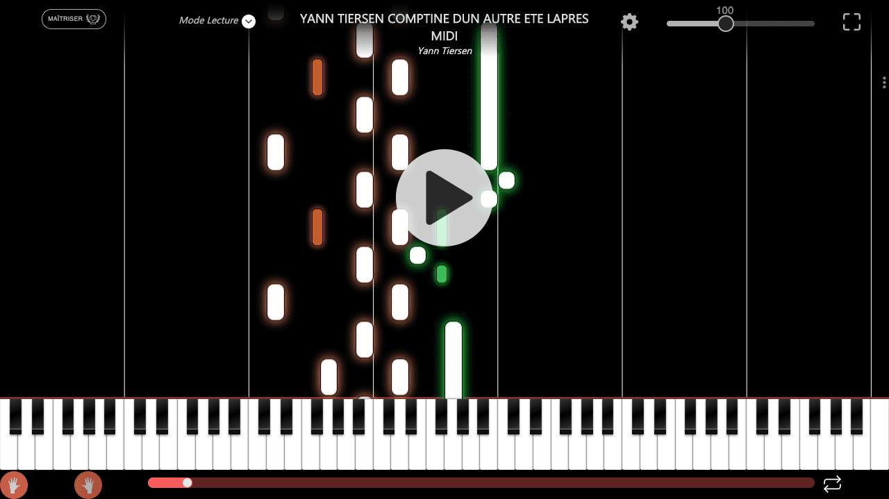 comptine d'un autre été yann tiersen easy piano song