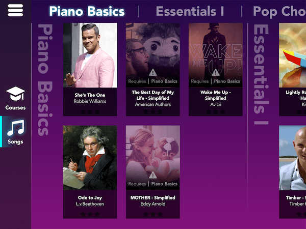 chansons simply piano