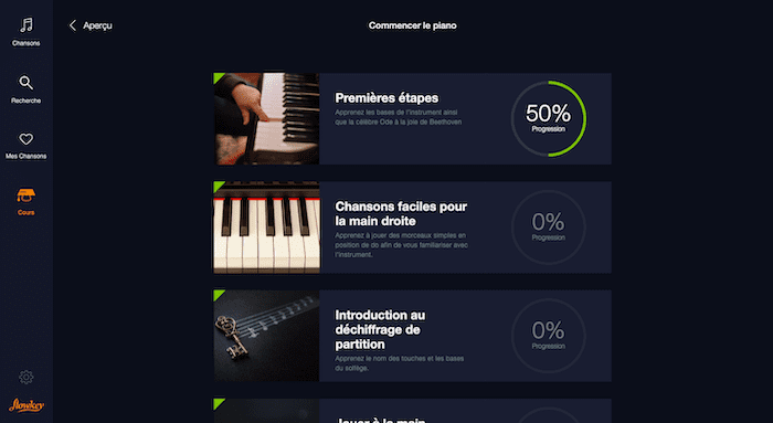 flowkey cours piano