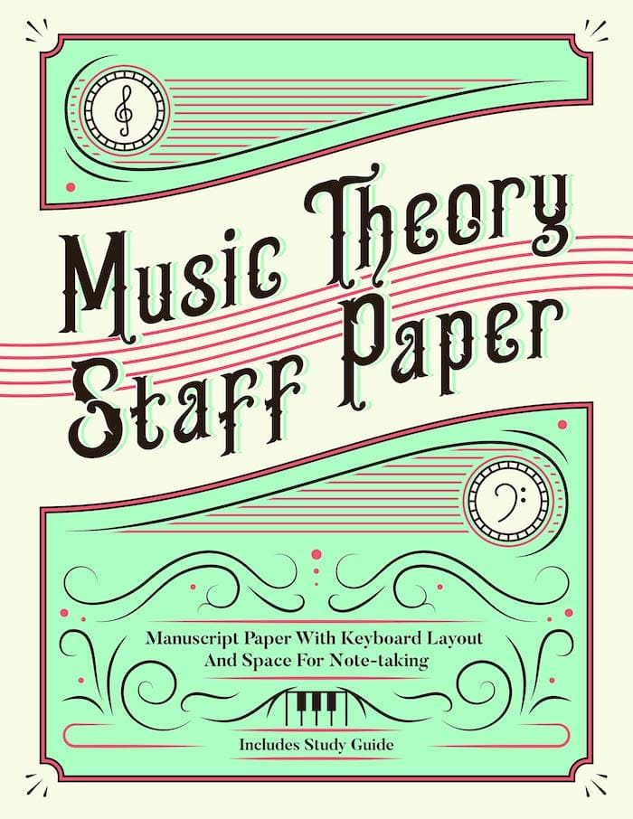 music theory staff paper piano book