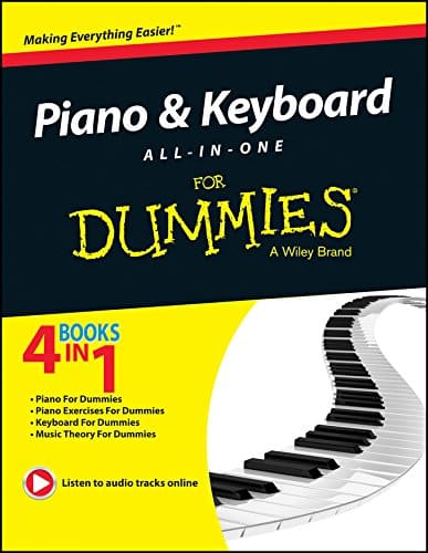 piano keyboard dummies book beginners