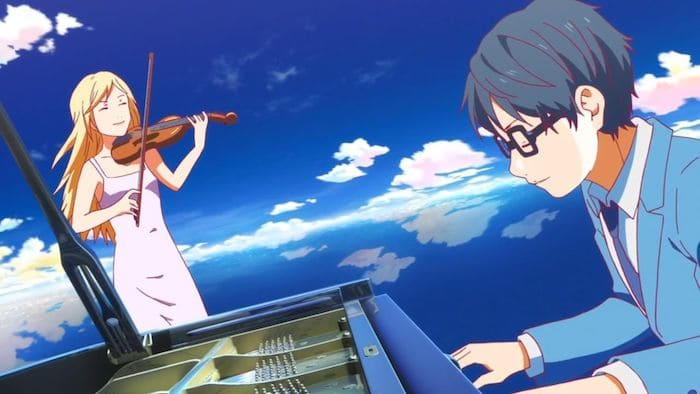 your lie in april anime piano