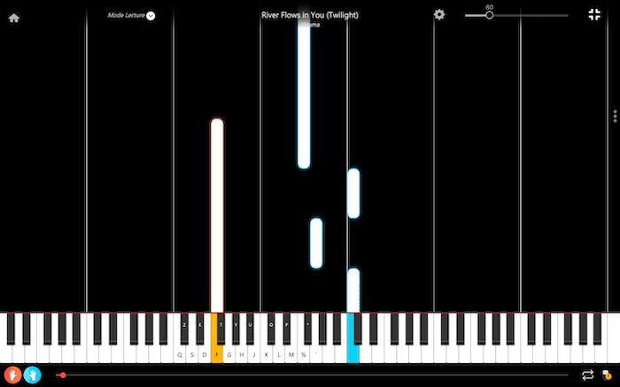 river flows in you musique piano
