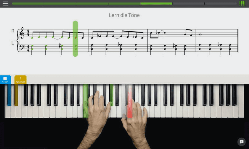 skoove online piano lessons
