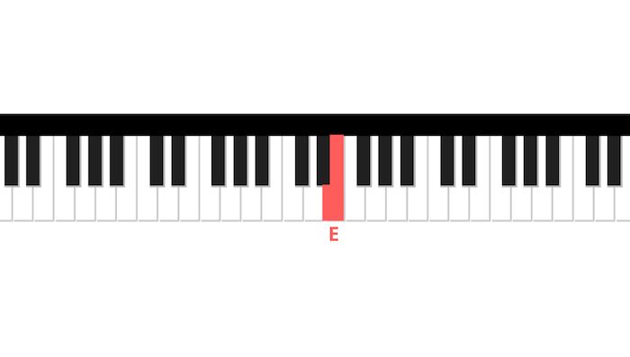 E jingle bells first piano note right hand
