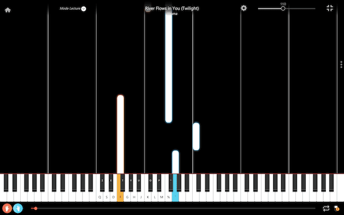 river flows in you twilight piano