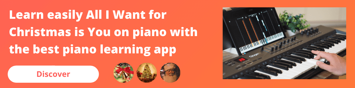 banner mobile all i want for christmas piano