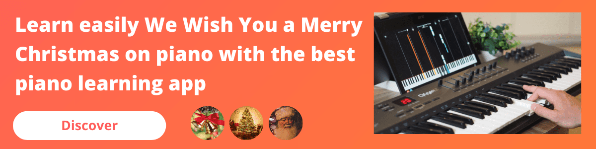 banner mobile we wish you a merry christmas piano