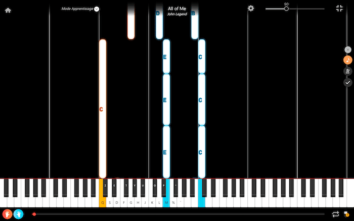 piano songs with chords learning app